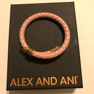 Alex and Ani Braided Leather Wrap Bracelet